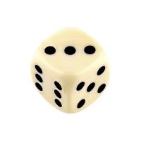 Кубик d6, слоновая кость (12мм)