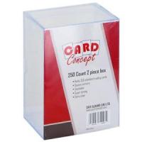 Коробка для хранения карт (пластиковая, на 250 карт)