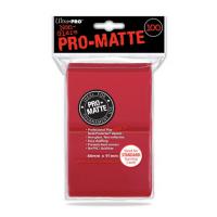 Кармашки Ultra-Pro Matte (красные матовые, 100шт)