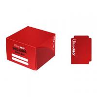 Коробочка на 180+ карт (красная, пластик) Ultra-Pro PRO-DUAL