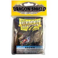Протекторы Dragon Shield Mini (61x88 мм), коричневые (50 шт)