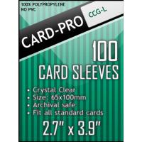 """Протекторы Card-Pro """"CCG-L"""" (65х100 мм, 100 шт): прозрачные"""