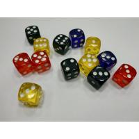 Кубик D6 цветной, прозрачный, закругленный 16 мм. (в ассортименте)