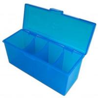 Пластиковая коробочка Blackfire для четырёх колод в ассортименте (синяя, зеленая, красная)