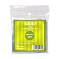 Прозрачные протекторы Card-Pro Quadro Medium для настольных игр (100 шт.) 74x75 мм